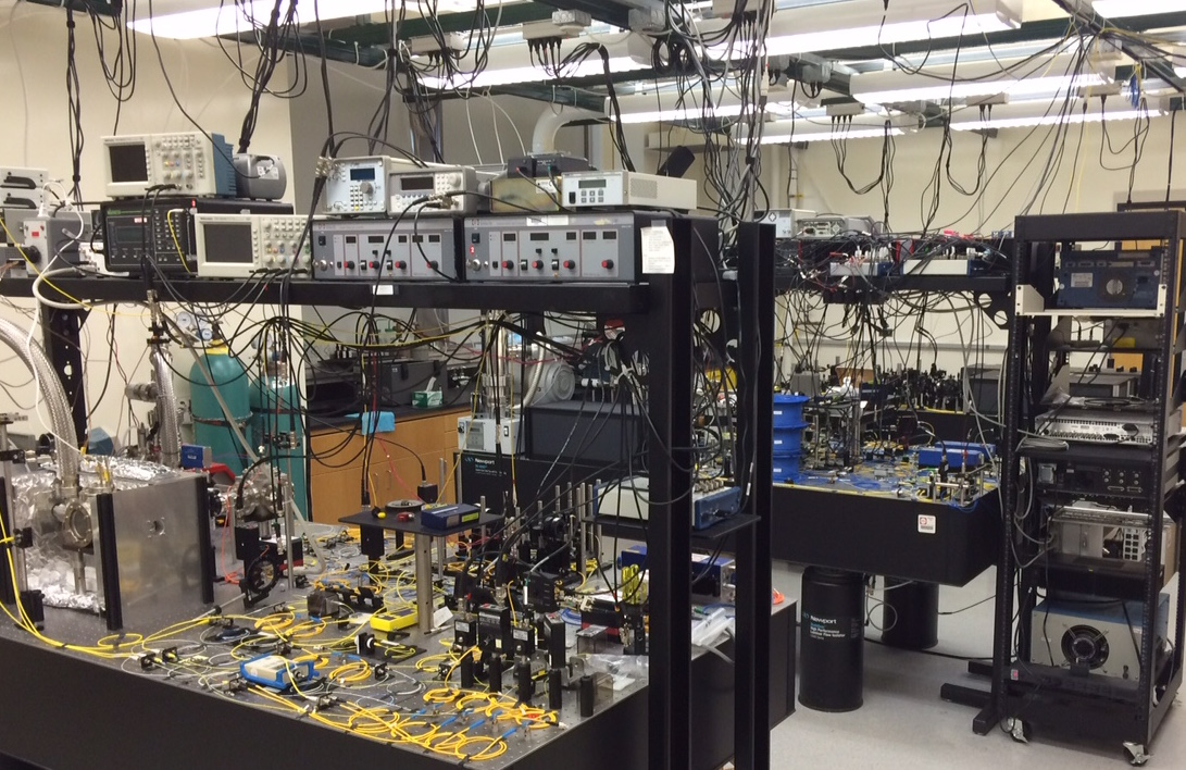 Photograph of the Quantum Information Group research laboratory at UMBC